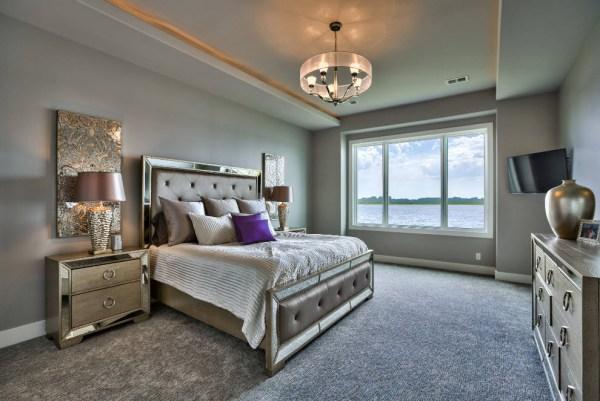Какой цвет стен выбрать для спальни: 100 фото