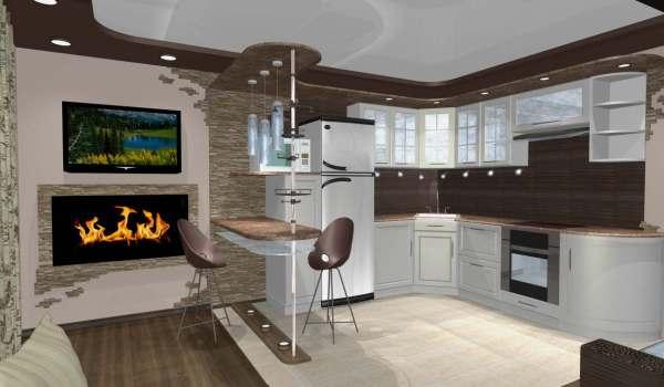 100 лучших идей дизайна: кухня-гостиная с барной стойкой ...
