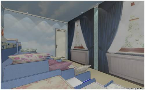 Дизайн спальни детского сада