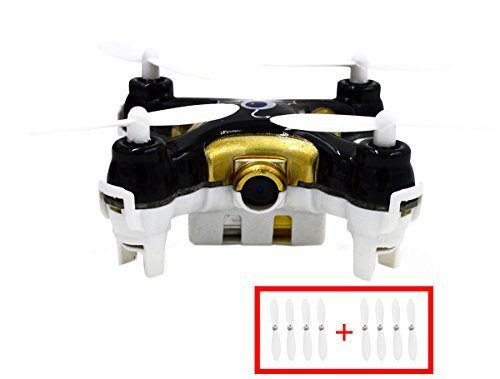 Bangcool Cheerson CX-10C Mini Drone Quadcopter with Camera 3 speed mode LED Light 2.4G 4CH 6 Axis(Black)
