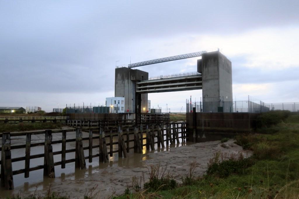 The Dartford Creek Barrier, over the River Darent