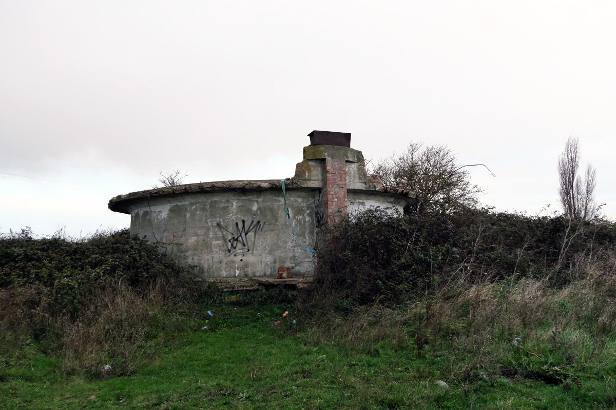 Former settling tank by the Thames Estuary