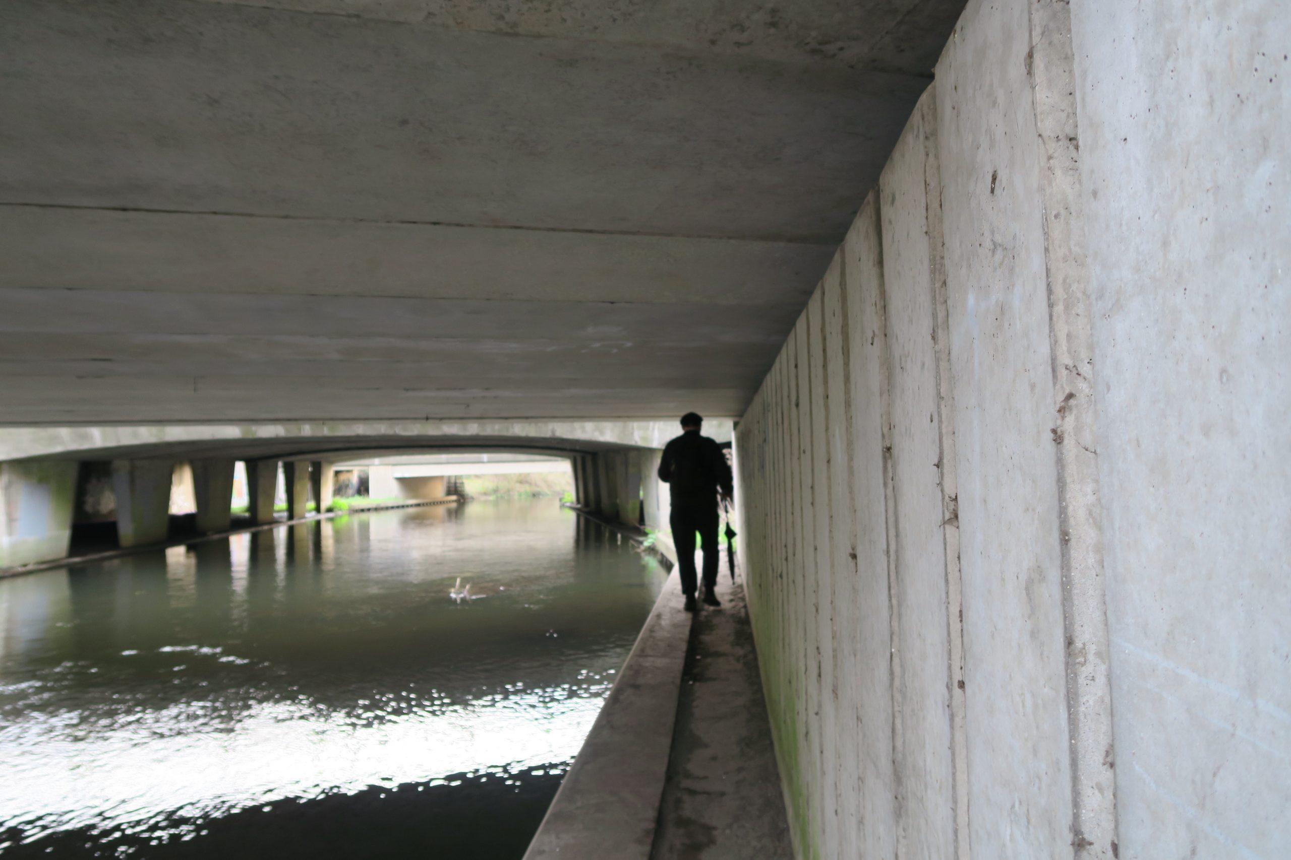 Walking under the M4