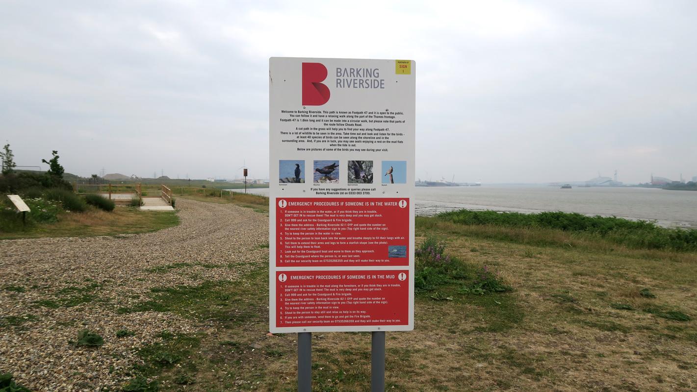 Welcome sign at Barking Riverside
