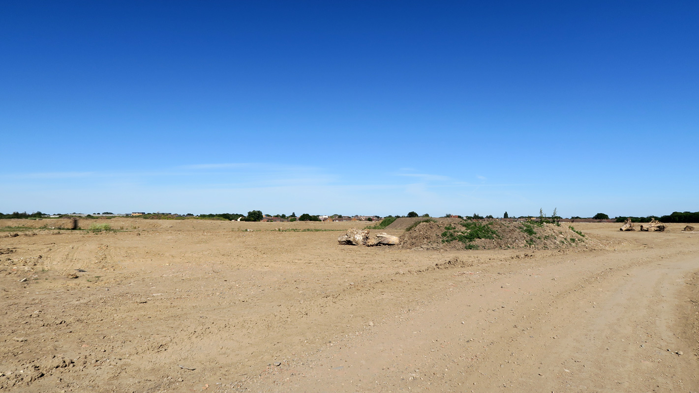 Wide expanse of flat, bare land