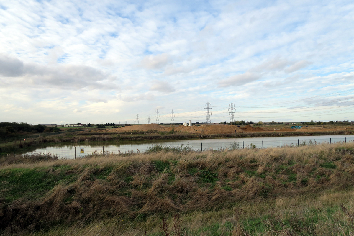 Looking north over the gravel pits