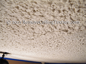 cracked popcorn ceiling in coquitlam prevents sale of apartment