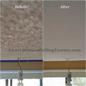 Vancouver popcorn ceiling texture removal