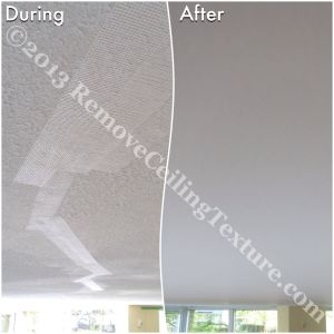 Ceiling cracks being repaired