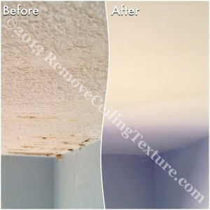 Scuffed ceilings are a thing of the past now that they have smooth ceilings.