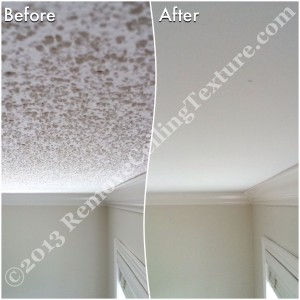 By choosing ceiling texture removal over just drywalling over textured ceilings, the homeowners didn't need to pay for the drywall expense.