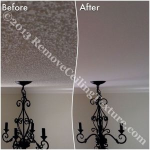 Texture removal creates smooth, upscale ceilings