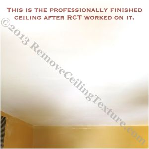 DIY ceiling job fixed by Remove Ceiling Texture