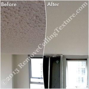 Popcorn Ceilings: Concrete ceiling renovations at 193 Aquarius Mews, Vancouver - Living Room