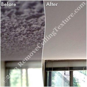 Popcorn Ceilings: Living room ceiling renovations at 3070 Guildford Way, Coquitlam