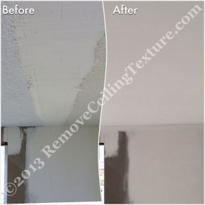 This apartment at 1010 Burnaby Street needed ceiling repair after removing walls