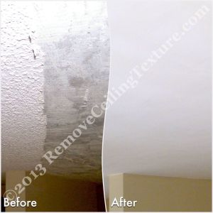 A North Vancouver homeowner called Remove Ceiling Texture after a failed DIY attempt
