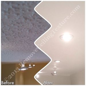 Refinished ceilings with potlights in Vancouver