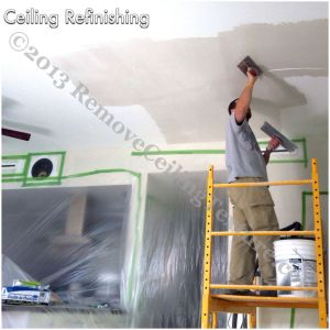 Ceiling refinishing using the same method used by plaster artisans