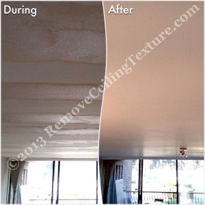 Fixing Bad Ceilings: Once RCT filled in the waves, resurfaced the ceiling and painted it, it was perfect.