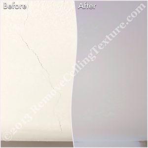 Living room ceiling cracks were repaired by RemoveCeilingTexture.com