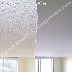 Ceiling texture removal in Vancouver - Bedroom