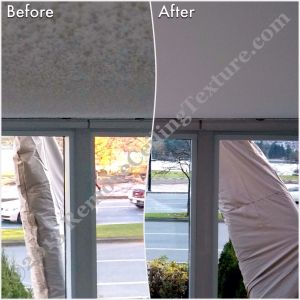 Popcorn ceiling removal in Vancouver - Living Room