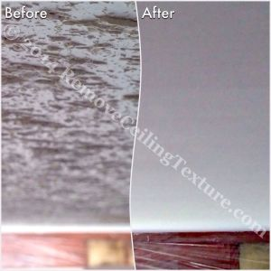 Removing Popcorn Ceilings: Bedroom before and after in Langley