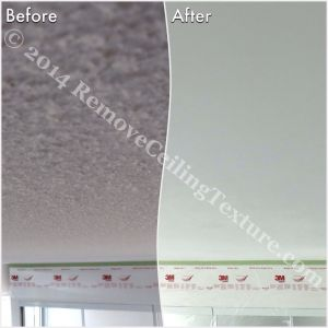 Ceiling texture removed by professional ceiling contractors at a Vancouver condo - Bedroom at 1331 Homer St.