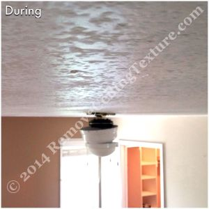Covering Popcorn Ceilings: During photo - bedroom