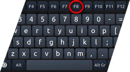 Press F8 to Restart PC in Safe Mode
