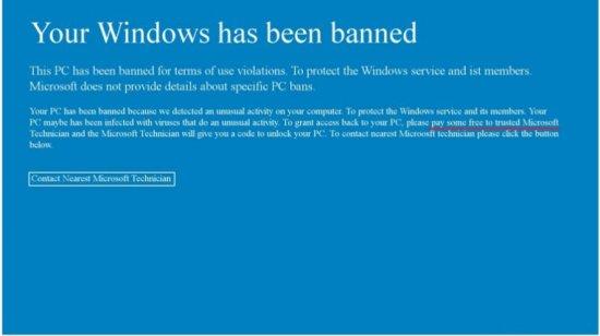 delete 'Your Windows Hasbeen Banned' Screenlocker