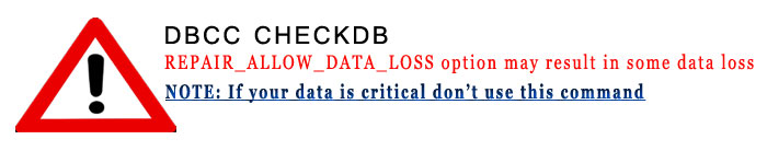 dbcc mdf repair