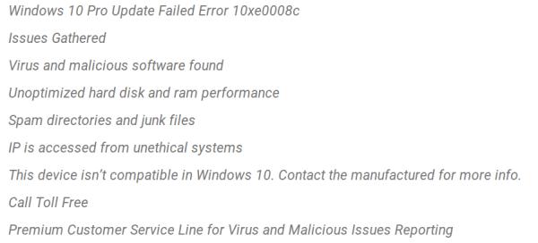 Windows 10 Pro Update fehlgeschlagen Pop-up entfernen