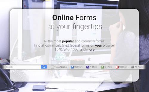 Recherche rapide de formulaires