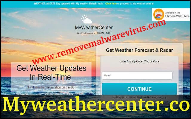 Supprimer Myweathercenter.co