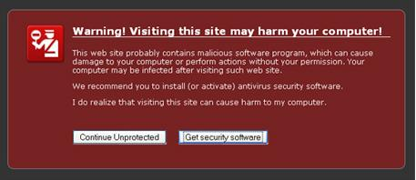 Warning! Visiting this site may harm your computer!