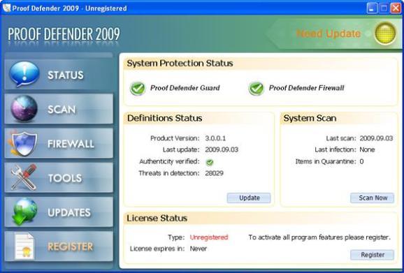 Proof Defender 2009