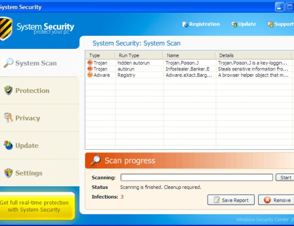 system security fake client removal