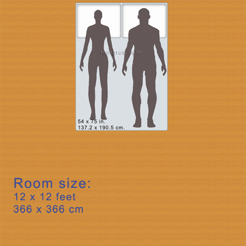 Dimensions Of Full Double Size Mattress Were Proportionally Resized According To Average Men Heights 5 Feet 10 Inches 1 778 Meter And Women