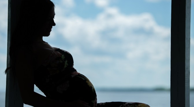 Photo de maternité à l'extérieur!