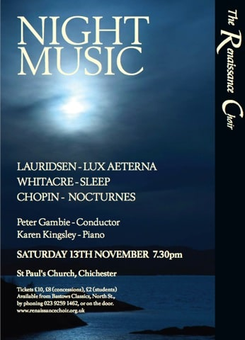 """Review: """"Music Night"""" – St Paul's Church, Chichester, November 2010"""