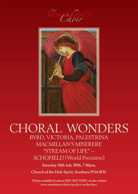 """Preview of """"Choral Wonders"""" in Southsea on 16 July 2016"""
