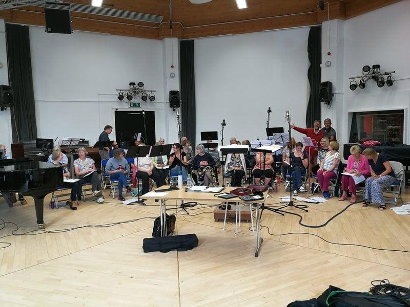 Recording session at Kingston University