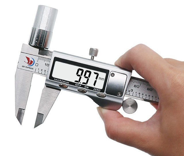 High Resolution 0 01mm Digital Vernier Calipers 150mm 6inch Range Stainless Steel