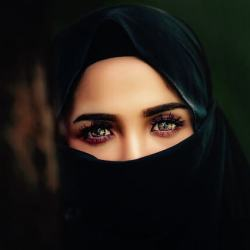 women with her face covered