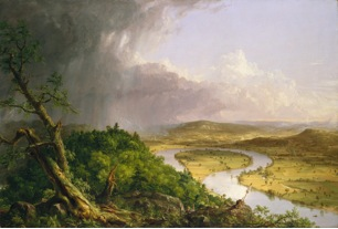 Thomas Cole. View from Mount Holyoke, Northampton, MA, after a Thunderstorm—The Oxbow. 1836.