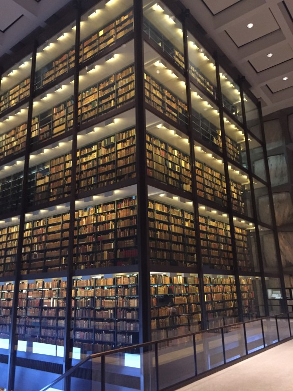 Beinecke interior, 2-12-15