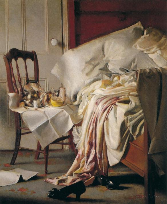 Elizabeth Okie Paxton. The Breakfast Tray. c1910. Oil on canvas. 21 x 17 in. Private Collection.