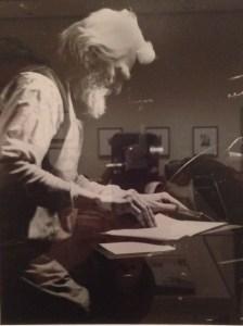 "Old Time Printer at Foot Press ""Joy of Work"" 1905"
